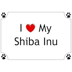 Shiba Inu T-Shirt - I love my