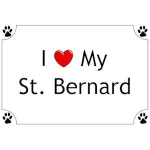 Saint Bernard T-Shirt - I love my