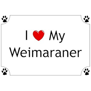 Weimaraner T-Shirt - I love my