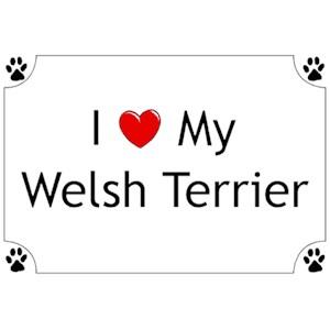 Welsh Terrier T-Shirt - I love my