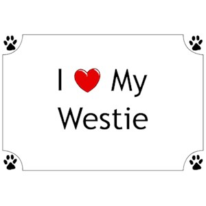 West Highland Terrier T-Shirt - I love my