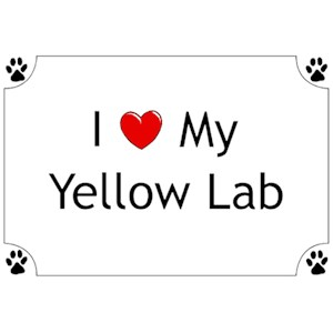 Yellow Lab T-Shirt - I love my