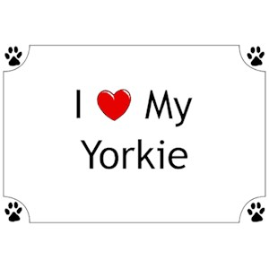 Yorkshire Terrier T-Shirt - I love my