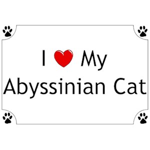 Abyssinian Cat T-Shirt - I love my