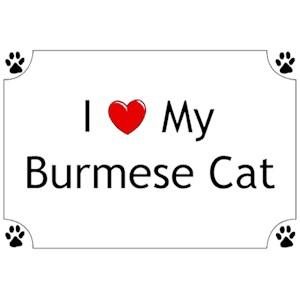 Burmese Cat T-Shirt - I love my