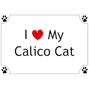 Calico Cat T-Shirt - I love my