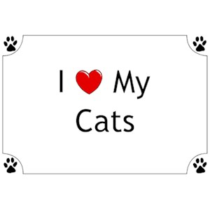 Cat T-Shirt - I love my Cats