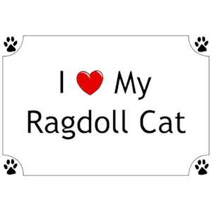 Ragdoll Cat T-Shirt - I love my