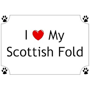 Scottish Fold Cat T-Shirt - I love my