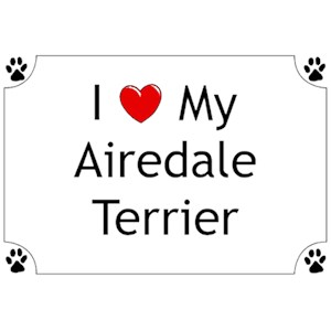 Airedale Terrier T-Shirt - I love my