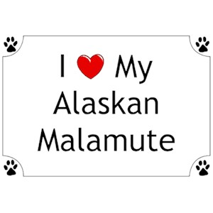 Alaskan Malamute T-Shirt - I love my