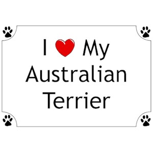 Australian Terrier T-Shirt - I love my