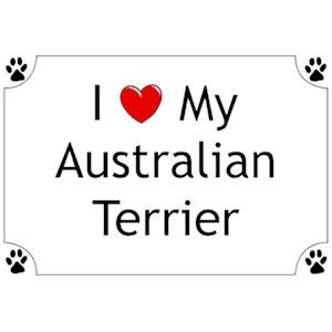 Australian Terrier T-Shirt - I love my
