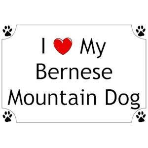 Bernese Mountain Dog T-Shirt - I love my