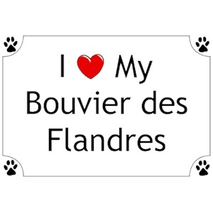 Bouvier des Flandres T-Shirt - I love my