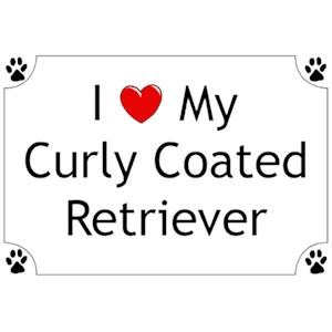 Curly Coated Retriever T-Shirt - I love my