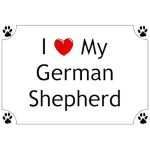 German Shepherd T-Shirt - I love my