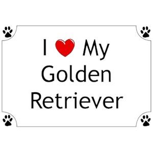 Golden Retriever T-Shirt - I love my