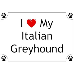 Italian Greyhound T-Shirt - I love my