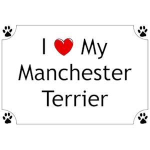 Manchester Terrier T-Shirt - I love my