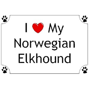 Norwegian Elkhound T-Shirt - I love my
