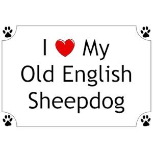 Old English Sheepdog T-Shirt - I love my