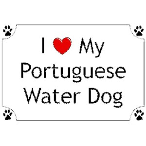 Portuguese Water Dog T-Shirt - I love my