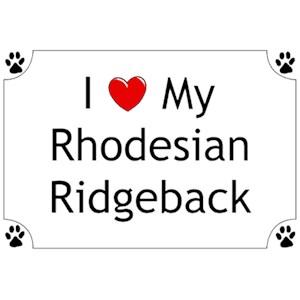 Rhodesian Ridgeback T-Shirt - I love my