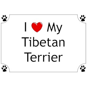 Tibetan Terrier T-Shirt - I love my