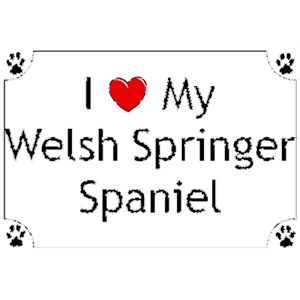 Welsh Springer Spaniel T-Shirt - I love my