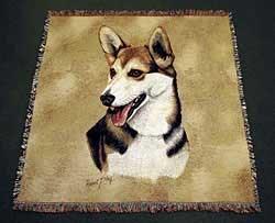 Corgi Cardigan Blanket