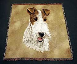 Wire Fox Terrier Blanket