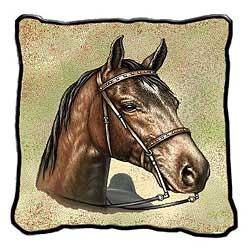 Saddlebred Horse Pillow