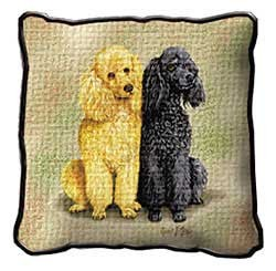 Poodle Pillow Apricot & Black