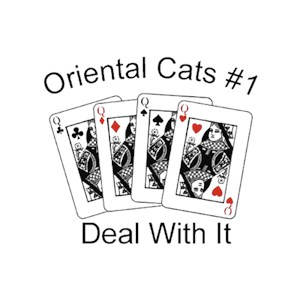 Oriental Cat T-Shirt - #1... Deal With It
