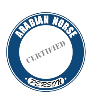 Arabian Horse T-Shirt - Certified Person