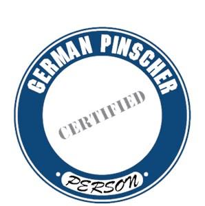 German Pinscher T-Shirt - Certified Person