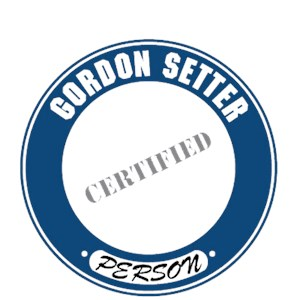 Gordon Setter T-Shirt - Certified Person