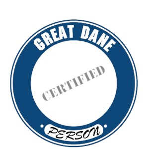 Great Dane T-Shirt - Certified Person