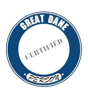 Great Dane T-Shirt - Certified Person