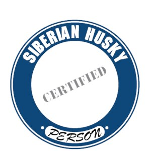 Siberian Husky T-Shirt - Certified Person
