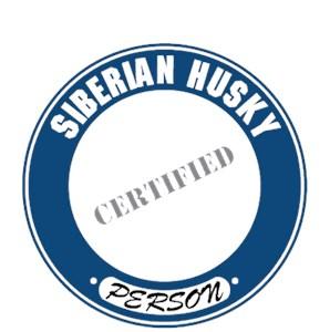 Siberian Husky T-Shirt - Certified Person