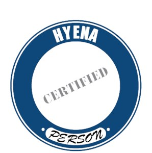 Hyena T-Shirt - Certified Person