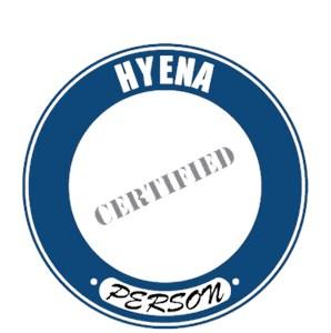 Hyena T-Shirt - Certified Person
