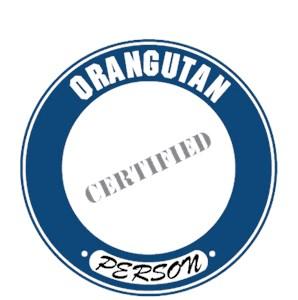 Orangutan T-Shirt - Certified Person