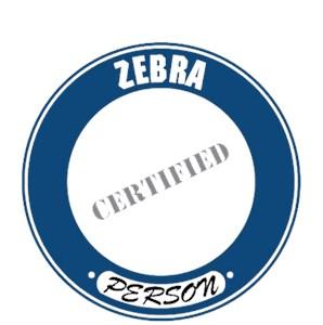 Zebra T-Shirt - Certified Person