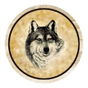 Wolf Drink Coasters