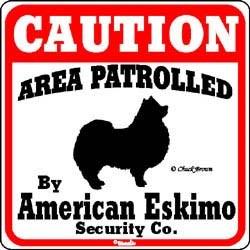 American Eskimo Dog Caution Sign
