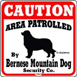 Bernese Mountain Dog Caution Sign