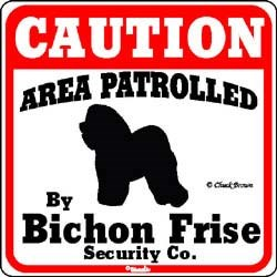 Bichon Frise Caution Sign
